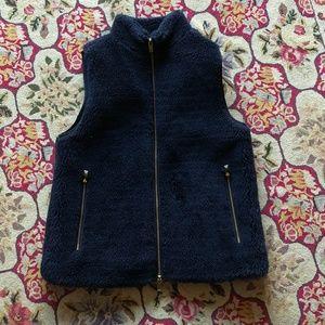 J. Crew Plush Fleece Excursion Vest